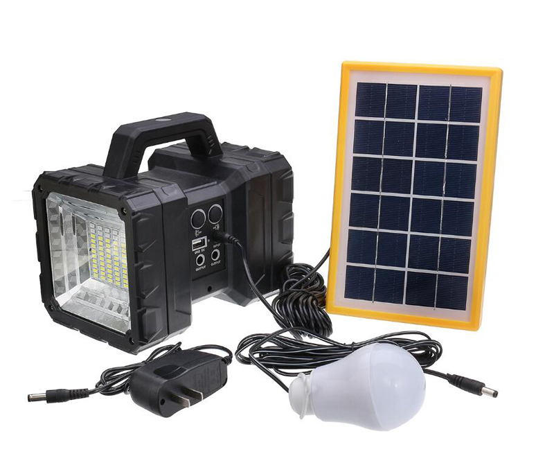 JD-998 Solar Light Multifunctional Lamp Two Head Solar Search Light Solar Flood Light Love & Solar