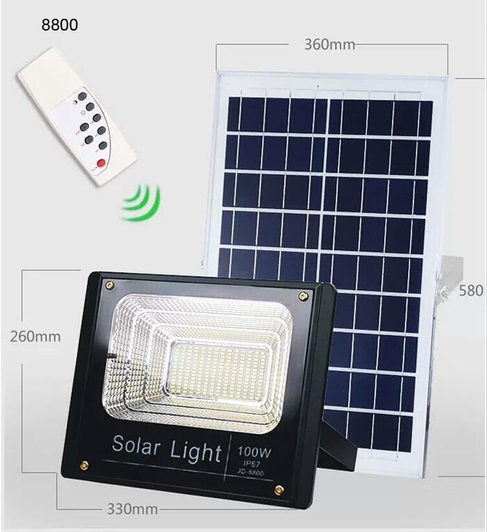 Ip67 Remote Control Solar Flood Light Jd8800
