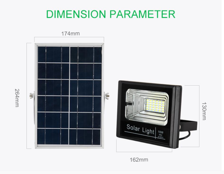 Ip67 Remote Control Solar Flood Light Jd8800